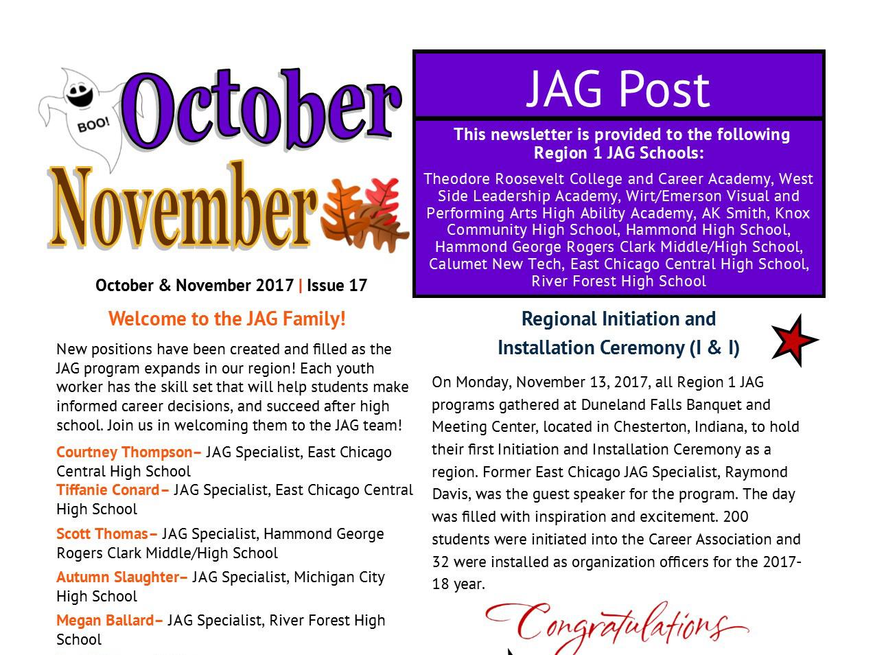 JAG Post Issue 17-October/November 2017